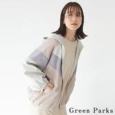 「Spring」配色拼接連帽夾克外套 - Green Parks