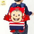 韓國Lemoinkid立體卡通猴條紋雙肩背包/書包-2款【K508131】