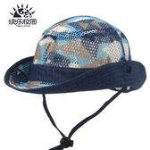 兒童帽子 夏季網眼帽子男女童大帽檐遮陽帽夏天寶寶太陽牛仔帽 綠光森林