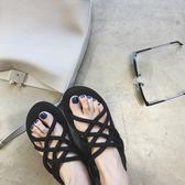 涼鞋女夏平底軟妹交叉綁帶羅馬越南沙灘鞋學生情侶休閒 小巨蛋之家