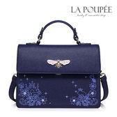 側背包 星夜流光璀璨鑲鑽小方包 午夜藍-La Poupee樂芙比質感包飾 (現貨)