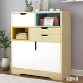 落地帶門書櫃 北歐現代簡約書櫥 家用組合櫃儲物收納櫃置物櫃 CJ6401『易購3c館』