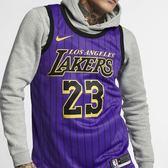 ▶NIKE LeBron James City Edition Swingman Jersey 洛杉磯 湖人隊 紫 金 詹姆士 NBA球衣 AJ4618-510
