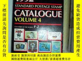 二手書博民逛書店SCOTT罕見1992 STANDARD POSTAGE STAMP CATALOGUE 4 ,Y203004