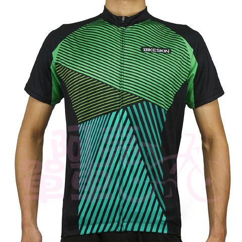 *阿亮單車*Bikeskin Deep Power 自行車短袖斜紋車衣,適用休閒騎乘,綠色《C00-011-N》