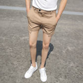 【雙11】夏季男士超短褲純色修身3分褲潮男正韓休閒西裝褲熱褲沙灘三分褲折300