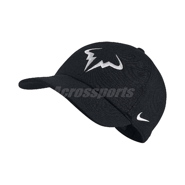 Nike 帽子 Rafael Nadal Aerobill 網球帽 納達爾 黑白 電繡 老帽 男女款 【ACS】 850666-010