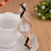手錶 熱賣創意新款女士時尚手錶 潮流葉子手錶錬錶石英錶  俏girl