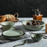 日式餐具碗盤碟套裝網紅北歐餐具復古家用一人食陶瓷碗盤杯子家用MOON衣櫥