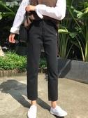 窄管褲 褲子女裝韓版高腰黑色休閒直筒褲百搭基礎款牛仔褲長褲學生潮 夢露時尚女裝