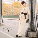 東京著衣【YOCO】安琪聯名法式優雅交叉深V連身褲裝-XS.S.M.L(172240)