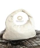【雪曼國際精品】BV 米白色小羊皮肩背包~二手商品 ( 9成新)
