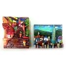 【收藏天地】台灣紀念品*手繪立體冰箱貼-九份 / 台北景點 (2款) ∕ 強力磁鐵 旅遊 觀光禮品