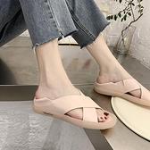 魚口鞋 涼鞋女新款平底軟底拖鞋女百搭防滑孕婦牛筋底孕婦媽媽魚口鞋-Ballet朵朵
