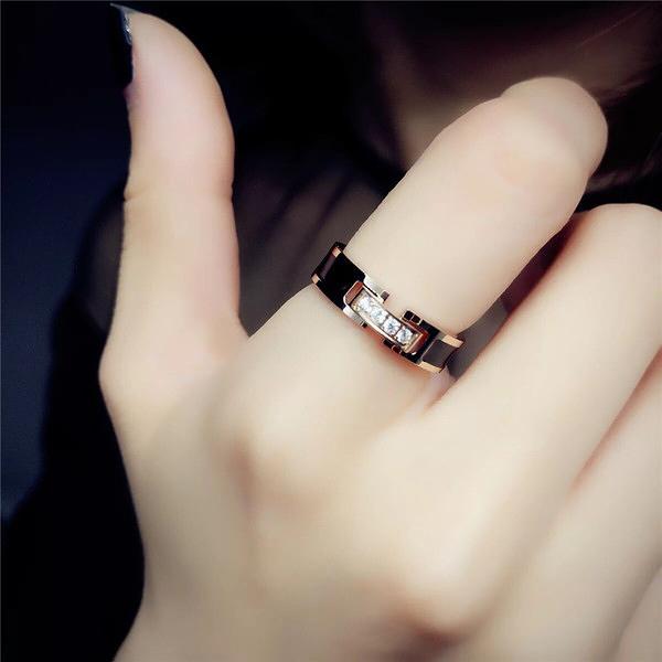 戒指 冷淡風網紅時尚個性不掉色鋼食指戒指女ins潮韓版簡約指環飾品 店慶降價