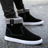 冬季雪靴男士短靴高筒棉鞋加厚加絨保暖棉靴馬丁靴