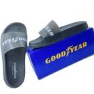 【樂樂童鞋】GOODYEAR果凍Q彈拖鞋-黑 G014 - 拖鞋 大童拖鞋 親子鞋 室內鞋 沙灘鞋 現貨 固特異
