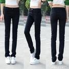 直筒牛仔褲女大碼韓版顯瘦黑色女長褲大碼牛仔寬鬆 黛尼時尚精品