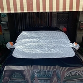 汽車遮陽罩半罩防曬隔熱遮陽擋前檔風玻璃罩(140*116/@777-4466)