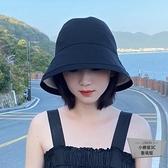 漁夫帽女帽子防曬遮陽遮臉百搭水桶帽韓版紫外線日系潮【小檸檬3C】
