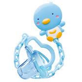 PUKU 藍色企鵝PUKU BABY 奶嘴鏈初生安撫奶嘴