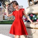 流行女裝新款夏季赫本小黑裙宴會小禮服蓬蓬初戀裙復古洋裝(快速出貨)