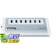 [美國直購] Plugable USB3-HUB7A 7-Port Aluminum USB 3.0 SuperSpeed Hub with 20W Power Adapter 集線器 適配器