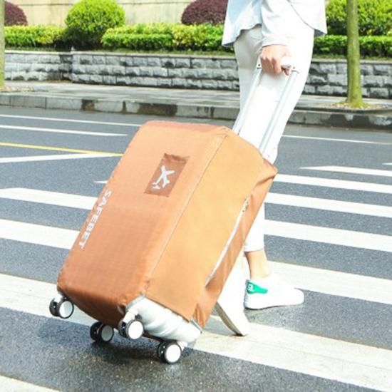 防水素面行李套(L號) 彈力 保護套 加厚 耐磨 保護罩 牛津布 行李箱 防塵【N368】慢思行