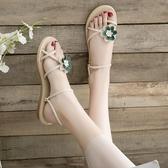 涼鞋 兩穿涼鞋2020年新款沙灘花朵拖鞋女外穿ins潮平底學生百搭穆勒鞋