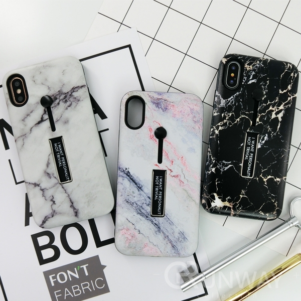 【R】浮雕圖案 矽膠軟指環 金屬隱藏支撐架 磨砂 手機殼 蘋果 iPhone 8 plus Xs Max XR 全包邊軟殼