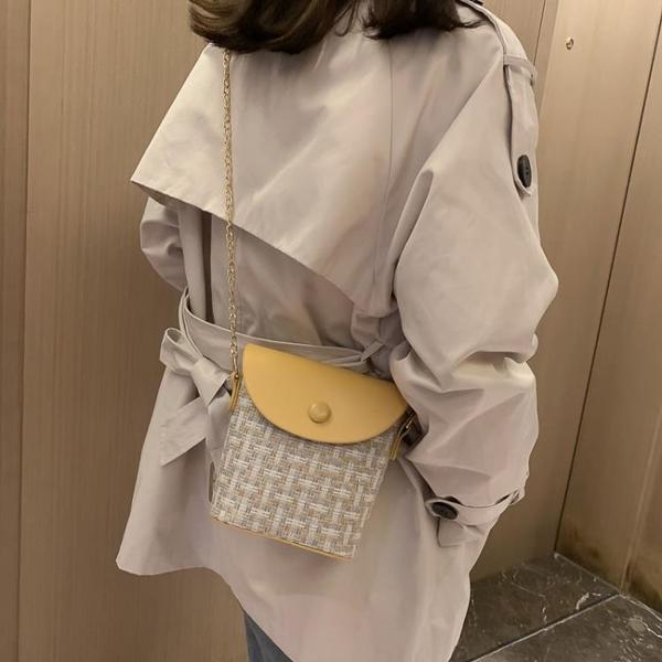 特賣 秋季上新ins超火小包包女新款韓版百搭單肩斜挎時尚水桶包
