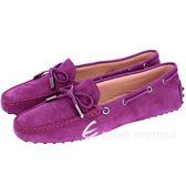TOD'S Gommino 經典綁帶豆豆休閒鞋(女鞋/紫色) 1420147-83