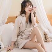 睡袍短袖可愛公主甜美少女寬鬆短褲兩件套裝JK237『樂愛居家館』