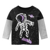 宇宙太空人假兩件長袖上衣 童裝 T-shirt