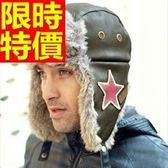 針織帽獨特嚴選-韓版復古保暖星星男護耳帽2色64b40【巴黎精品】
