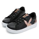 PLAYBOY 簡約美感 後跟線條厚底休閒鞋-黑(Y5709)