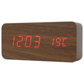 木紋LED數位置鐘 鬧鐘 HOLT L NITORI宜得利家居