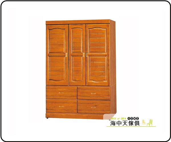 {{ 海中天休閒傢俱廣場 }} G-9 摩登時尚 臥室系列 115-4  柚木4x6尺百葉衣櫥