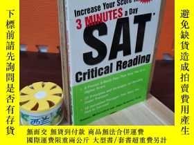 二手書博民逛書店Increase罕見Your Score in 3 Minutes a Day: SAT Critical Rea