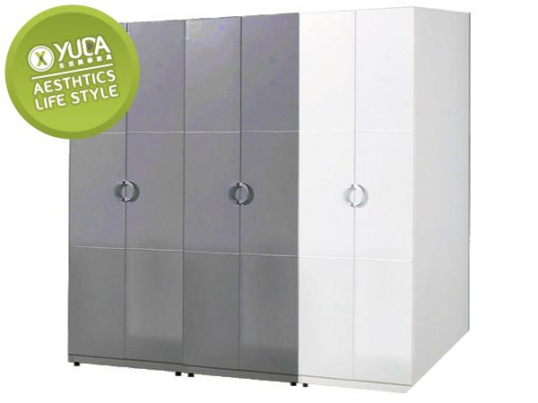 衣櫃【YUDA】凱倫 白色2.3尺雙吊衣櫃/衣櫥 J8F 068-1