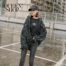 Queen Shop【02050254】經典煙灰刷色寬鬆牛仔外套*現+預*