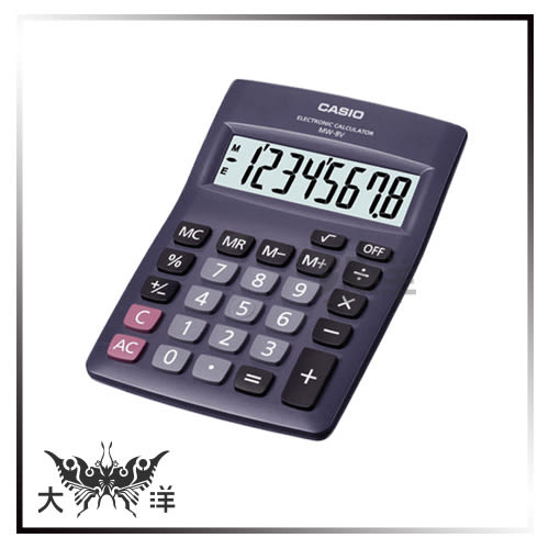 ◤大洋國際電子◢ CASIO卡西歐 8位數桌上型國家考試專用計算機 運算 數學 考試 會計 工程 MW-8V