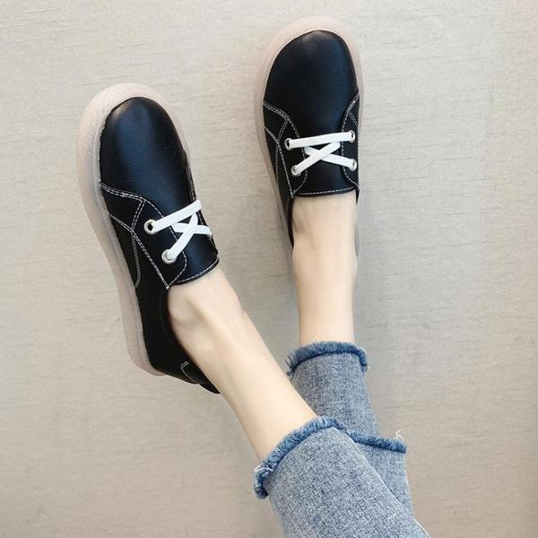 果凍豆豆鞋女鞋新款春季正韓百搭水晶底單鞋學生休閒小白鞋子軟底豆豆鞋  【快速出貨】