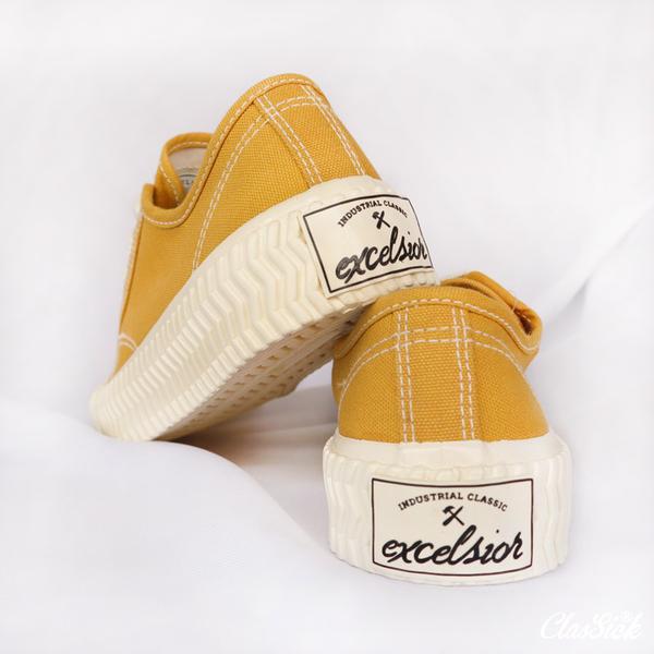 【現貨】EXCELSIOR 餅乾鞋 芥末黃 膠底 帆布鞋 女 休閒 ES_M6017CV_YL