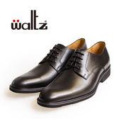 Waltz-「MIT」素面百搭紳士德比鞋514034-02(黑)