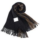 Calvin Klein新款CK拼色條紋流蘇圍巾(深藍色)103215-2