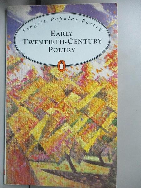 【書寶二手書T1/原文小說_MDS】Early Twentieth Century Poetry