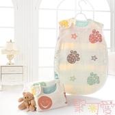 睡袋嬰兒紗布背心薄款新生兒初生寶寶兒童防踢被【聚可愛】