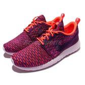 【五折特賣】Nike 休閒慢跑鞋 Wmns Roshe One Flyknit 紫橘 休閒鞋 女款【PUMP306】704927-803
