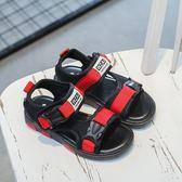 2018夏季新款涼鞋童鞋防滑PU夏季魔術貼中性-Ifashion